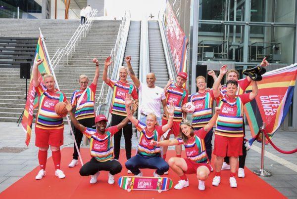Teamfoto European Life Goals Games tenueshow
